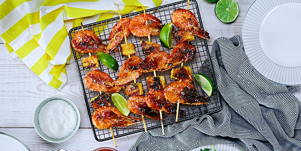 Del Monte Europe | Recipes | Seafood Pineapple Skewers